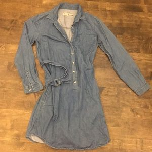 Denim Tunic with belt and pockets